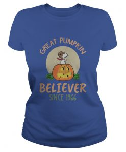 Ladies tee Snoopy great pumpkin believer since 1966 shirt