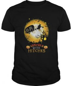 Guys Witches with hitches camping Halloween shirt