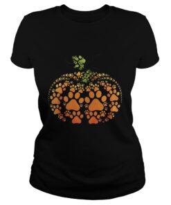 Ladies Tee Pumpkin Dog Halloween shirt
