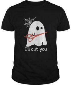 Guys Halloween Boos Ghost I'll cut you shirt
