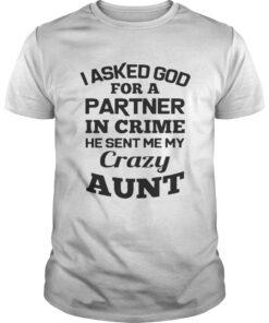 I asked God for a partner in crime he sent me my crazy aunt shirt
