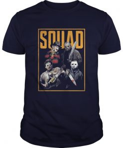 Halloween Freddy Jason Leatherface and Michael Myers Squad shirt