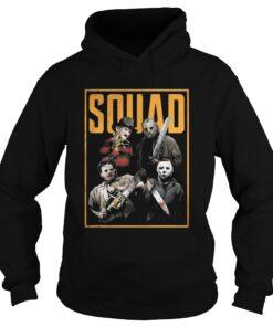 Halloween Freddy Jason Leatherface and Michael Myers Squad shirt Hoodie