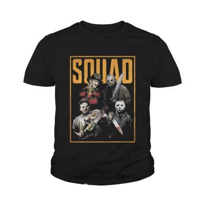 8e4e1eee ... Halloween Freddy Jason Leatherface and Michael Myers Squad shirt youth  tee
