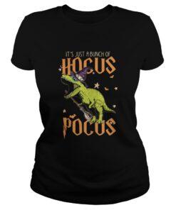 Ladies Tee Halloween T-rex It's just a bunch of Hocus Pocus shirt