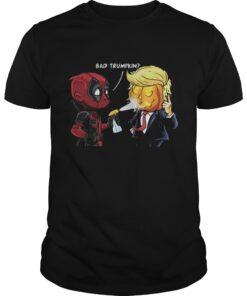 Guys Halloween Bad Trumpkin shirt