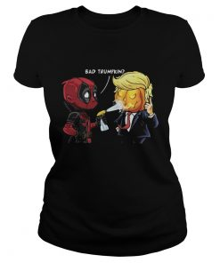 Ladies Tee Halloween Bad Trumpkin shirt