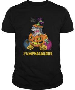 Guys Halloween Pumpkin Dinosaur shirt