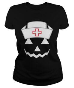 Ladies Tee Nurse Halloween shirt
