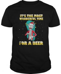 Guys Rick and Morty It's the most wonderful time for a beer shirt