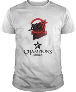 Guys The Championship Lol Esports 2018 100 Thieves Shirt