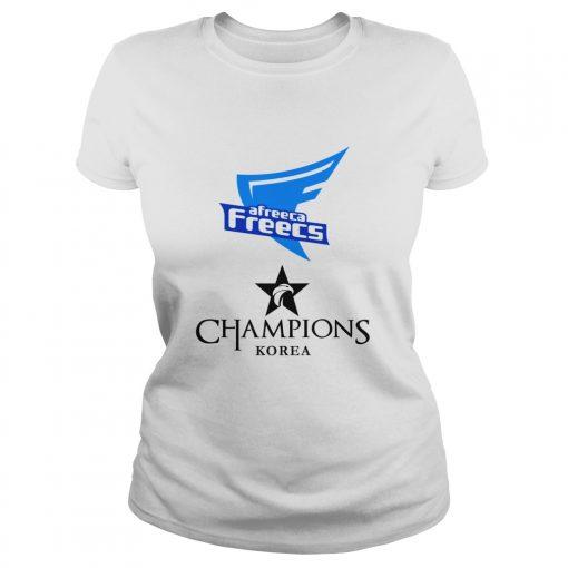 Ladies Tee The Championship Lol Esports 2018 Afreeca Freecs Shirt