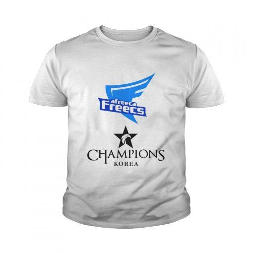 Youth Tee The Championship Lol Esports 2018 Afreeca Freecs Shirt