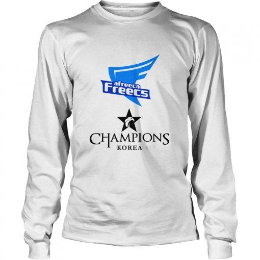 Long Sleeve The Championship Lol Esports 2018 Afreeca Freecs Shirt