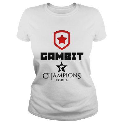 Ladies Tee The Championship Lol Esports 2018 Gambit Esports Shirt