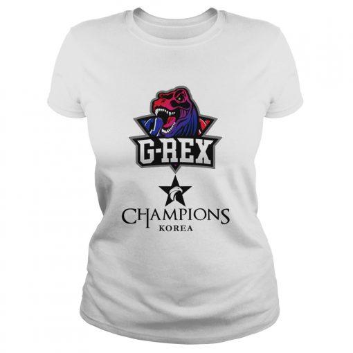 Ladies Tee The Championship Lol Esports 2018 G-Rex Shirt