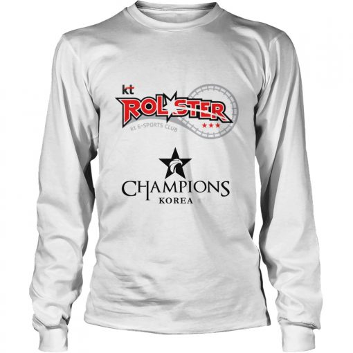 Long Sleeve The Championship Lol Esports 2018 kt Rolster Shirt