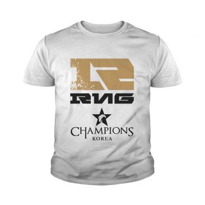 Youth Tee The Championship Lol Esports 2018 Royal Never Give Up Shirt
