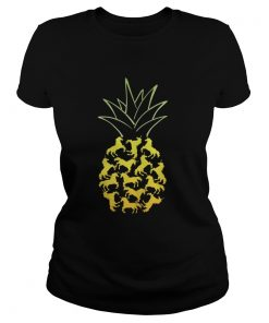 Ladies Tee Unicorn Pineapple shirt