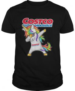 Guys Costco Wholesale Unicorn Dabbing shirt