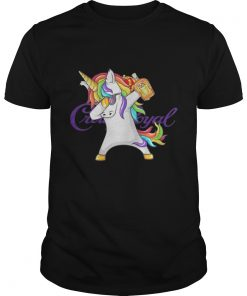 Guys Crown Royal Unicorn Dabbing shirt