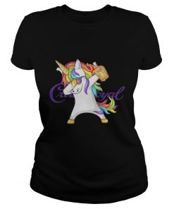 Ladies Tee Crown Royal Unicorn Dabbing shirt