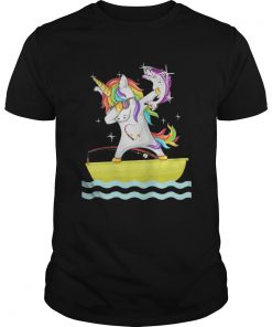 Guys Fishing Unicorn Dabbing shirt