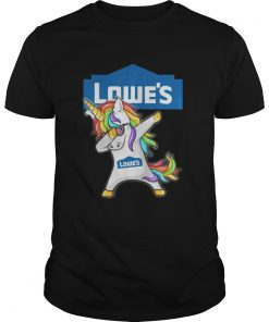 Guys Lowe's Unicorn Dabbing shirt