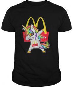 Guys McDonald's Unicorn Dabbing shirt