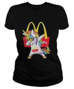 Ladies Tee McDonald's Unicorn Dabbing shirt