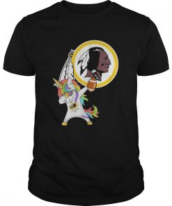 Guys Washington Redskins Football Unicorn Dabbing Hip Hop shirt