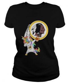 Ladies Tee Washington Redskins Football Unicorn Dabbing Hip Hop shirt