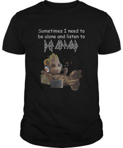 Baby Groot: Sometimes I need to be alone and listen to Def Leppard shirt