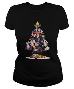Barry Manilow Christmas Tree ladies tee