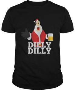 Christmas Santa Claus Dilly Dilly shirt gift 4 beer drinkers shirt