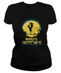 Dance Namaste Witches Halloween ladies tee