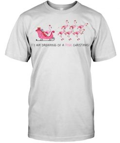 Flamingo I am dreaming of a pink Christmas shirt