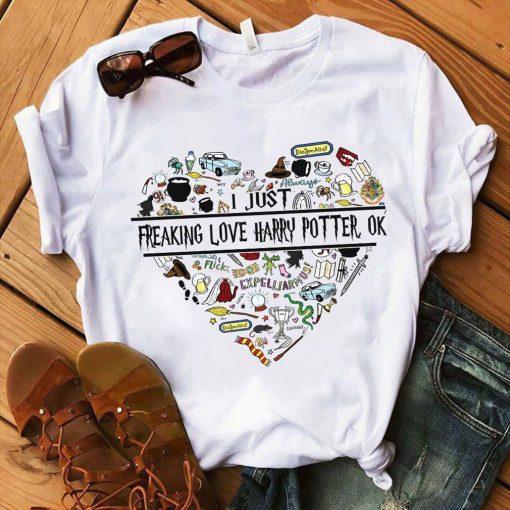 Freaking love Harry Potter ok shirt