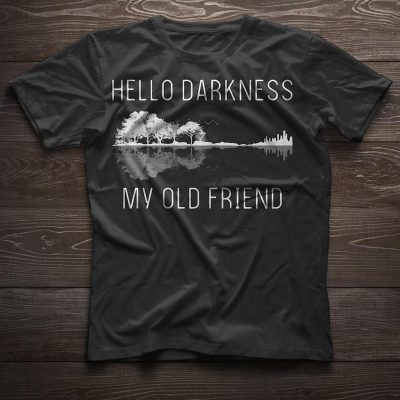 Guitar hello darkness my old friend women shirt