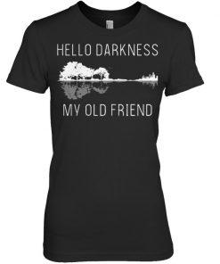 Guitar hello darkness my old friend women shirt