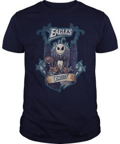 Halloween Jack Skellington Eagles shirt