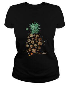Halloween Pineapple Pumpkin ladies tee
