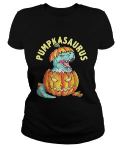 Halloween Pumpkin Saurus ladies tee