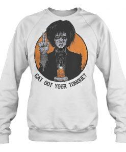 Halloween Billy Butcherson cat got your tongue shirt