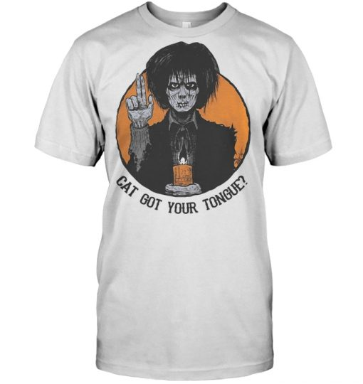 Halloween Billy Butcherson cat got your tongue shirt