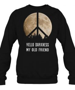 Hippie moon hello darkness my old friend shirtHippie moon hello darkness my old friend shirt