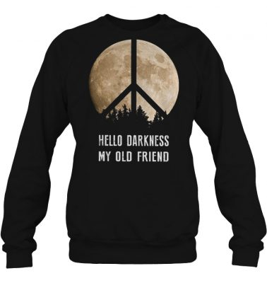 Hippie moon hello darkness my old friend shirtHippie moon hello darkness my old friend shirt