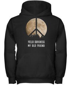 Hippie moon hello darkness my old friend shirt