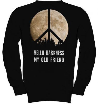 Hippie moon hello darkness my old friend shirt