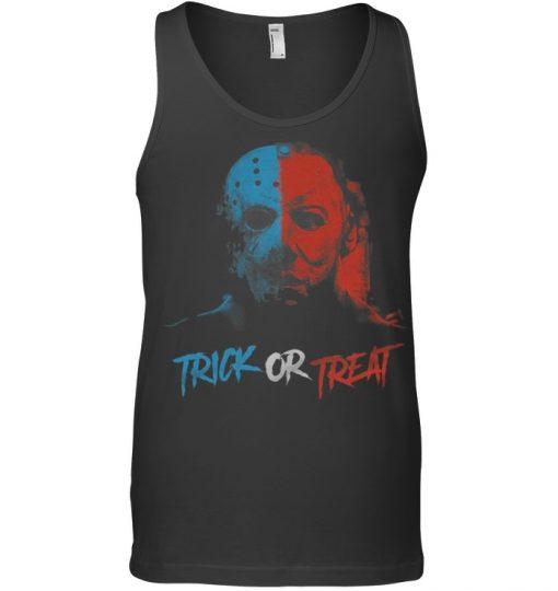 Michael Myers and Jason Mask Trick or treat shirt
